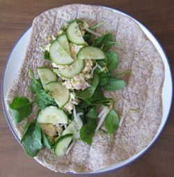 Salmon Curry Wrap