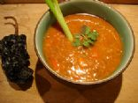 Mexican Lentil Soup with Roasted Garlic and Chiles