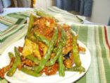 Rhea's Baked Chicken w/Sun-Dried Tomato & Asparagus 