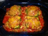 Grandma's Stuffed Green Peppers