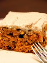 Whole Wheat Carrot Cake with Agave Nectar and Cream Cheese Frosting
