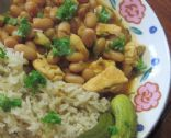 Healthy Lebanese Chicken and Beans Stew- Fasoulia b' djej
