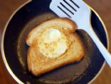 Egg in the nest (white bread)