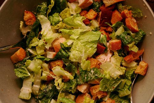 Lemon-Pepper Chicken Caesar Salads