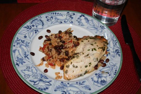 Costa Rican-Style Tilapia with Pineapples Black Beans and Rice