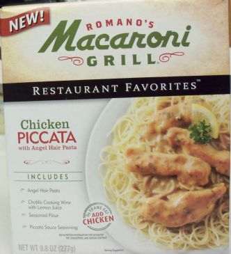 Macaroni Grill Chicken Piccata with Angel Hair Pasta (from Box) revised