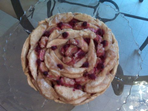 Pear, Rhubarb and Raspberry Tart