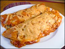 Cheese and Onion enchilades