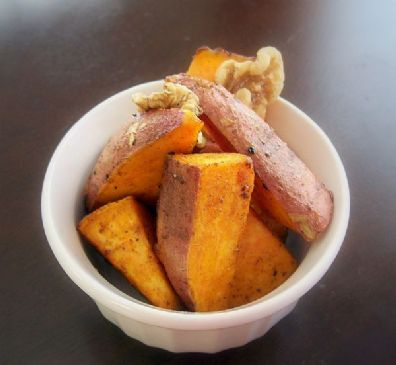 Roasted Sweet Potatoes skin-on with Maple Syrup