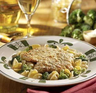 Lemon Chicken Scallopini Pasta con Broccoli (mock Olive Garden)