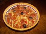 Italian Penne Pasta with Turkey and mushrooms