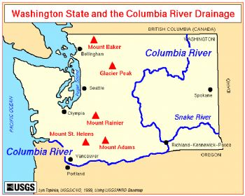 Washington Map Columbia River