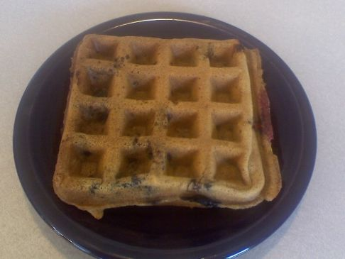 Vegan Blueberry Waffles