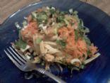 Thai Peanut Chicken Pasta with Spinach