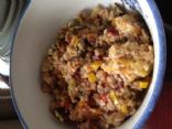 Savory Steel Cut Oats with Spring Vegetables in the rice cooker