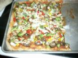 Pizza - Whole Wheat Crust with veggies & chicken