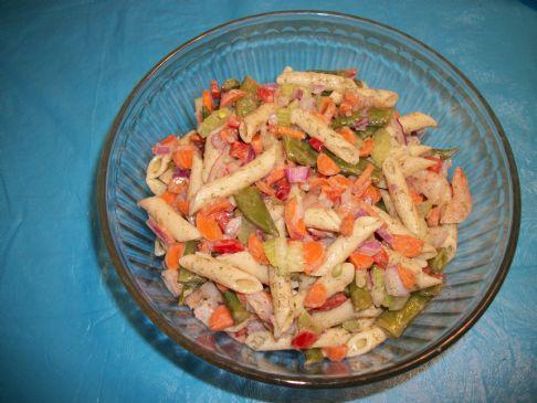 Lemon dill shrimp pasta salad