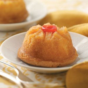 Mini Pineapple Upside Down Cakes **Reduced Fat