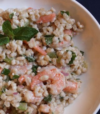 RHODEYGIRLTESTS' Shrimp & Bean Barley Salad