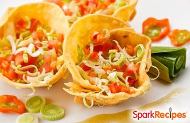 Mini Taco Cups Recipe | SparkRecipes