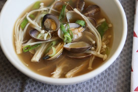 Korean Miso Soup with Clams