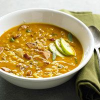 Pumpkin, Barley, and Sage Soup