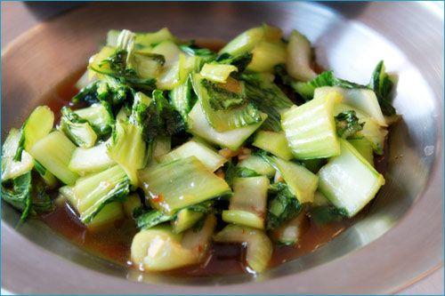 Bok Choy Stir fry side dish