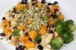 Millet Pilaf with Roasted Butternut Squash, Black Beans & Pumpkin seed Crumbs