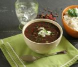 Black Bean Soup with Pumpkin, Lime and Chipotle