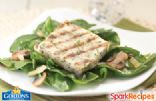 Grilled Fillets with Mushrooms and Spinach