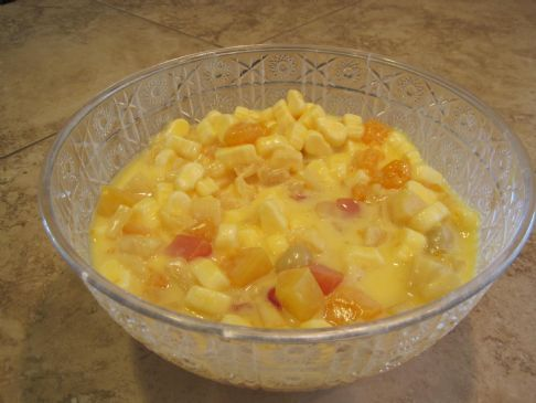 My Aunt's Pudding Fruit Salad