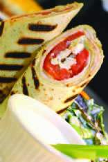 Chicken and Creamy Curry Wrap