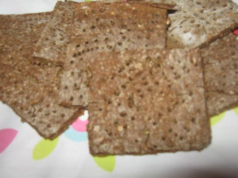 cracking crackers - made with butterbean & ground spelt flakes 29cals each