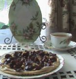 Nutty Cherry Pita Pizza
