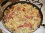 Cabbage Noodles and Sausage
