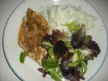Cider Vinegar Chicken with Smashed Potatoes & Watercress and Cucumber Salad