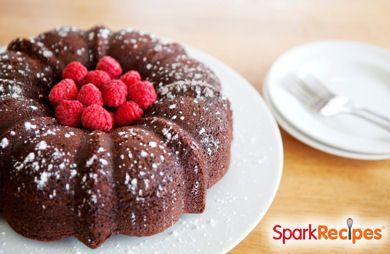 Flourless Gluten-Free Chocolate Cake with Raspberries