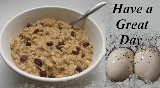 Batchcooked Cherry Almond Oatmeal & Boiled Eggs for Singles