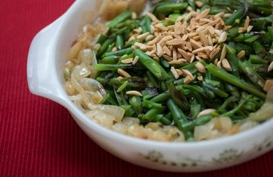 Green Beans with Balsamic Onions and Almonds