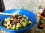 Pear and Pecan spinach salad