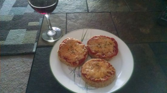 Baked Eggplant Pizza Slices