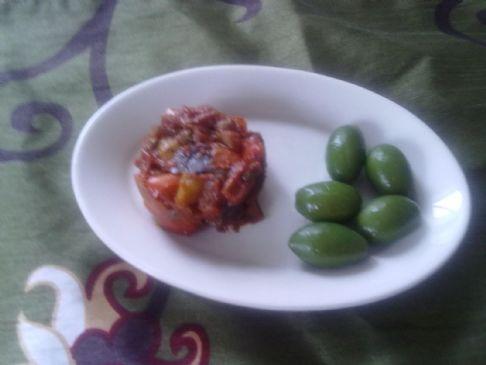 Eggplant Caponata (Spicy)