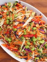 Asian Slaw with Peanut Dressing
