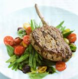 Fennel Crused Pork with Green Bean & Olive Salad