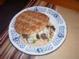 Phily Steak Cheese Sandwich Round