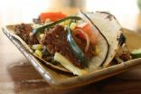 Wild Mushroom, Steak, and Poblano Tacos