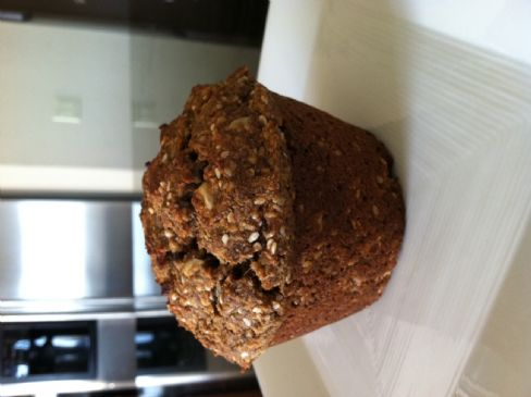 Apple-Pecan Flax Seed Muffins