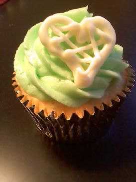 White Chocolate Macadamia Nut Cupcake with Key Lime Buttercream Frosting