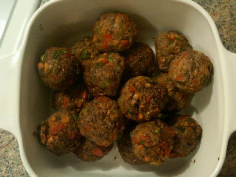 Baked Sirloin and Veggie Meatballs