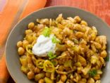 Curried Potatoes and Chickpeas